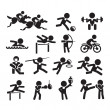 Stock Vector: Icons sport
