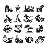 Recreation Icons. Vector illustration — Stock Vector