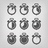 Stopwatch. Vector illustration — Stock Vector