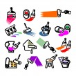 Repair Icons. Vector illustration — Stock Vector