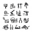 Repair Icons. Vector illustration — Stock Vector #27857521