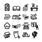 Kütüphane icons set — Stok fotoğraf
