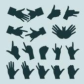 Hands. Vector illustration — Stock Vector