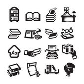 Icons set library — Stock Vector