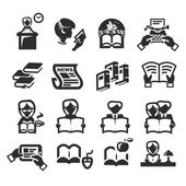 Icons set literature — Stock Vector