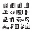 Hotel icons — Stock Vector #28222541