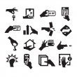 Hand icons — Stock Vector #28260833