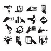 Iconos de mano — Vector de stock