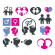 Stock Vector: Men and women sign icons