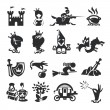 Fairy tale icons — Vecteur #28671029