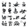 Fairy tale icons — Stockvector #28671029