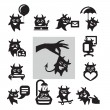 Stock Vector: Hell icons