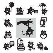 Hell icons — Stock Vector
