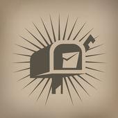 Mail box icon — Stock Vector