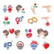 Collection of family icons — Stock Vector #28735509
