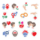 Collection of family icons — Stock Vector