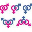 Male and female symbols combination — Stock Photo