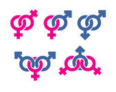 Male and female symbols combination — Foto de Stock