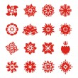 Snowflake icons — Stock Vector