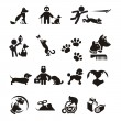 Dog and Cat icons set — Stock Vector #29354397