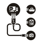 Vector USB — Stock Vector