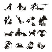 Dog and Cat icons set — Stock Vector