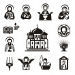 Religious icons — Stock Vector #29373585