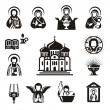 Religious icons — Stockvectorbeeld
