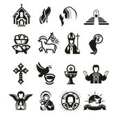 Religious icons — Vector de stock