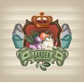 Vegetable garden — Stock Vector