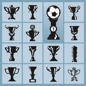 Trophy icons — Stock Vector