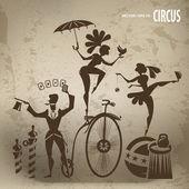Circus artists — Stock Vector