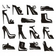 Shoes icons Vector Format — Stock Vector