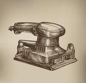 Grinding machine. Vector Format — Stock Vector