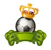 Ballon de football. format vectoriel — Vecteur
