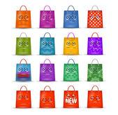 Shopping tassen — Stockvector