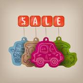 Bil försäljning. vektor illustration — Stockvektor