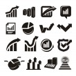 Stock Vector: Vector charts icons set