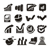 Vector charts icons set — Stock Vector