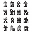 Houses icons set — Stock Vector #33472873