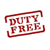 Duty Free. Vector format — Stock Vector