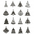 Christmas tree icons — Stockvectorbeeld