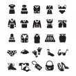 Clothes icon set — Imagen vectorial