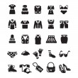 Clothes icon set — Stock Vector
