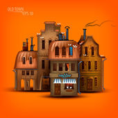 Old Town. Vector format — Stockvektor