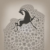 Year of the horse — Vector de stock