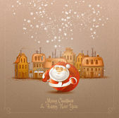 Merry Christmas & Happy New Year. Vector format — Stock Vector