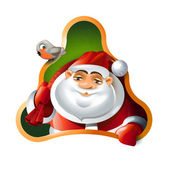 Santa Claus. Merry Christmas and Happy New Year — Stock Vector