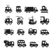 Car icons set — Stock Vector