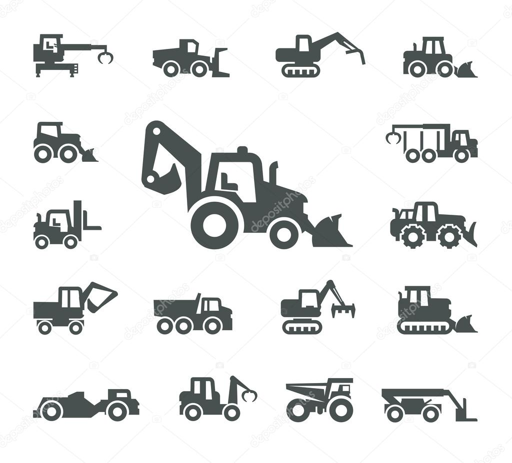 construction equipment  u2014 stock vector  u00a9 sergeypykhonin